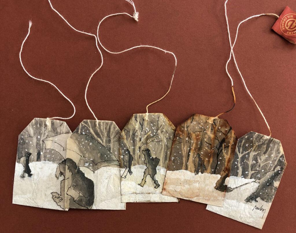 Na rabljenim vrećicama čaja radi čudesne minijaturne slike