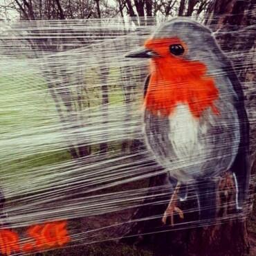 Nepoznati autor na prozirnoj foliji nacrtao prekrasne murale